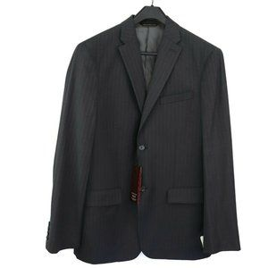Perry Ellis Mens Charcoal Pinstripe Suit Jacket